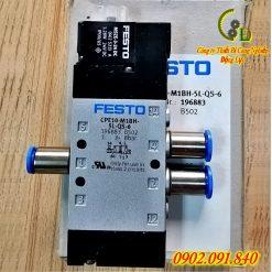 Van điện từ khí nén Festo CPE10-M1BH-5L-QS-6 do công ty động lực nhập khẩu chính hãng từ festo đức phân phối và bảo hành trên toàn quốc báo giá tốt nhất trên thị trường hiện nay