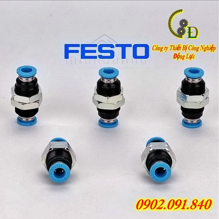 đầu nối nhanh Festo QSS-8 hay vẫn thường được gọi là khớp nối nhanh cút nối nhanh hoặc van tiết lưu khí nén festo do công ty động lực phân phối bảo hành uy tín trên toàn quốc cam kết báo giá tốt nhất